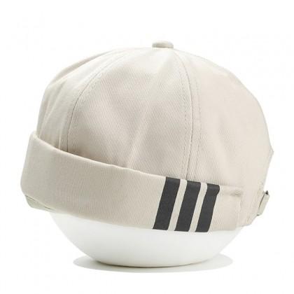 Adidas 3 stripes Hip Hop Men Women Unisex Beanie Skull Cap Topi with adjustable strap