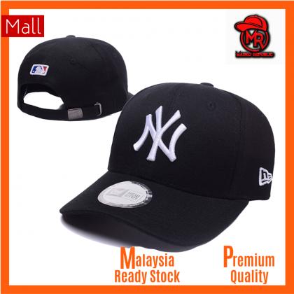 New Era New York NY Yankees Unisex Baseball Cap with adjustable strap (Black White)