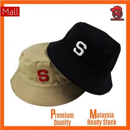 Supreme Two Side 2 Color Reversible Unisex Men Women Cotton Bucket Hat Cap