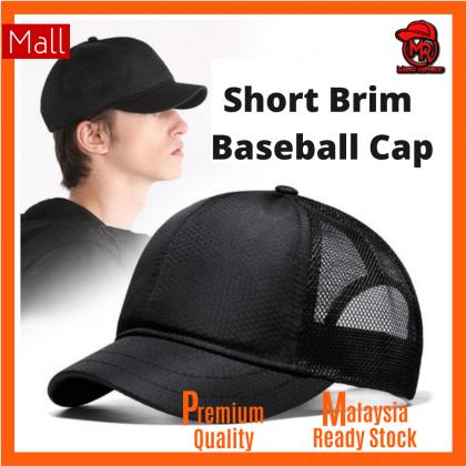 Basic Plain Blank Unisex Men Women Fashion Sport Mesh Short Brim Breathable Quick Drying Trucker Baseball Cap